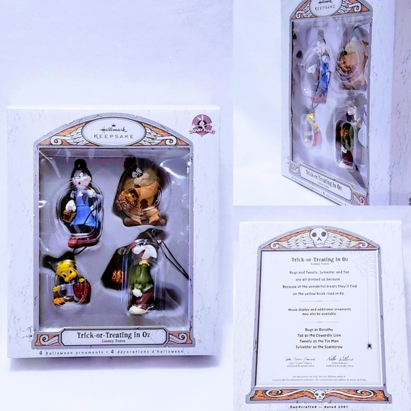 Hallmark Other - 🎃Trick or Treating in Oz, Looney Tunes ornaments